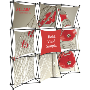 Xclaim 8ft Fabric Popup Display Kit 01
